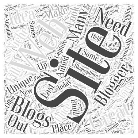 a great idea for a blogging web site is no longer enough Word Cloud Concept Çizim