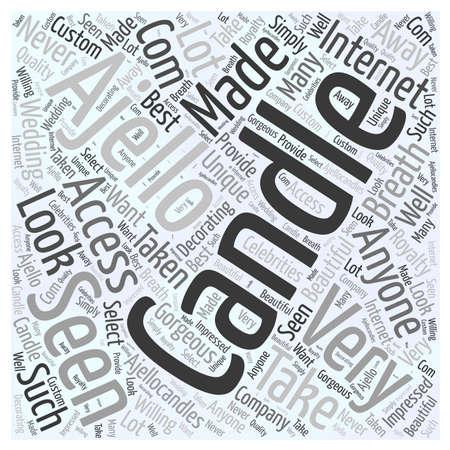 Ajello Candles Word Cloud Concept