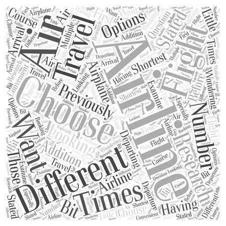 departing: Air Travel Why You Should Research Airlines and How to Do So Word Cloud Concept