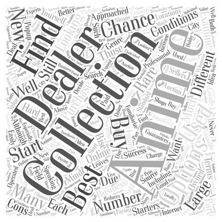 collectibles: Anime Collectibles Your Buying Options Word Cloud Concept Illustration