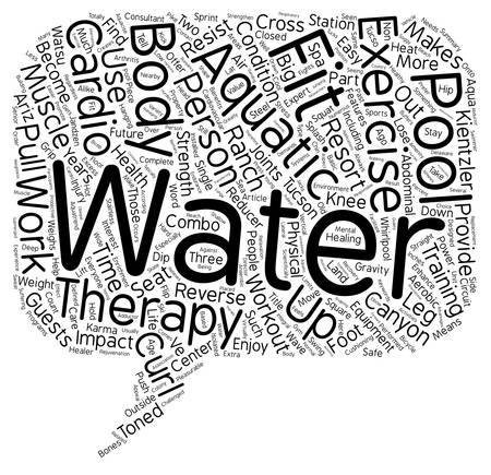Aquatic Fitness The Move To Water Exercise text background wordcloud concept