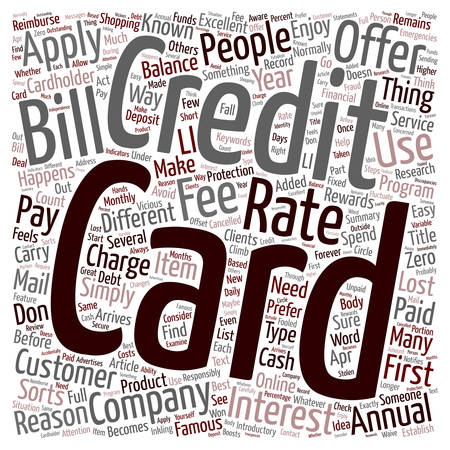 Apply For A Credit Card text background wordcloud concept