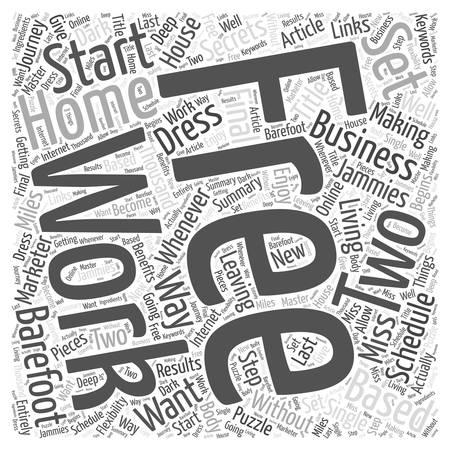 A Journey Of A Thousand Miles Begins With A Single Step Starting Your Own Home Based Business Word Cloud Concept Ilustração