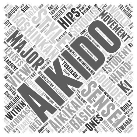 aikido yoshinkan Word Cloud Concept Illustration