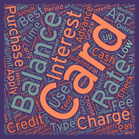 Apply Online For A Credit Card How To Choose A Card text background wordcloud concept