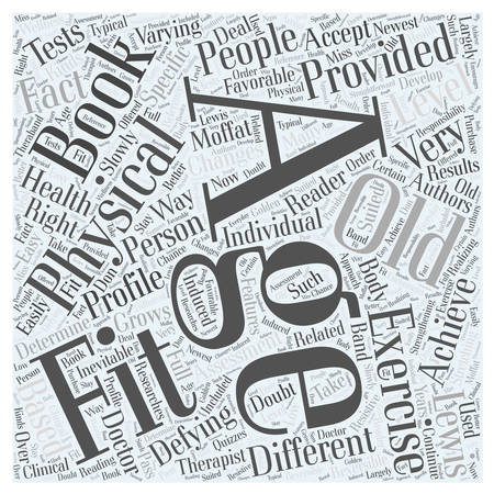 lewis: age defying fitness Word Cloud Concept Illustration