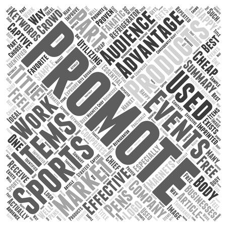 promotional products: Advantages of Promotional products at sports events Word Cloud Concept