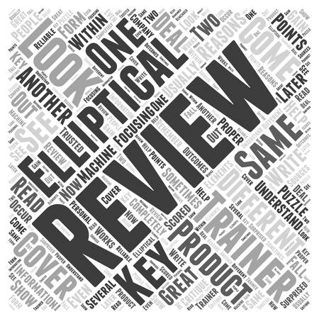 looked: About Elliptical Trainer Reviews Word Cloud Concept
