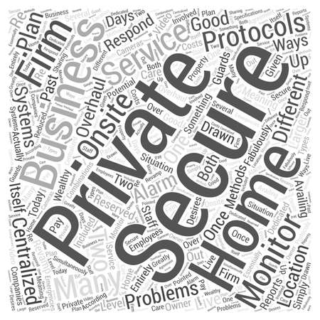 Are Private Security Firms a Good Plan for Homes and Businesses Word Cloud Concept