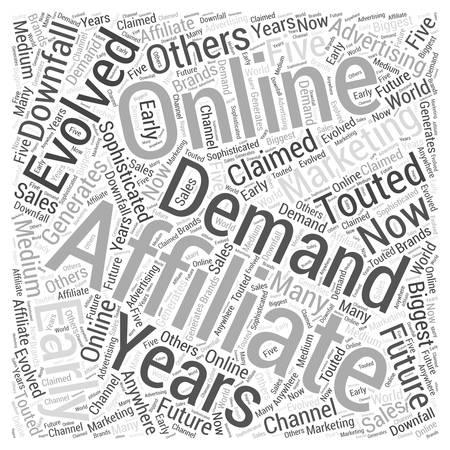 Are Affiliates in Demand Word Cloud Concept Ilustração