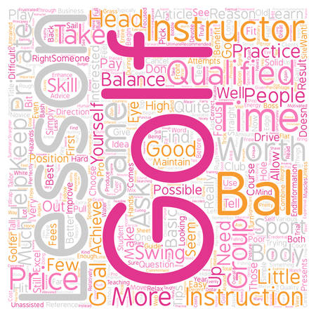 Are Golf Lessons Worth The Price text background wordcloud concept.