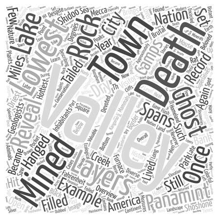 despite: An Overview of Death Valley Word Cloud Concept.