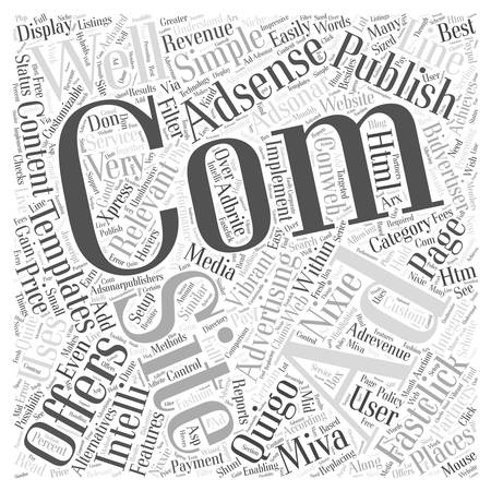 Adsense Alternatives Word Cloud Concept.