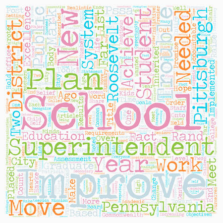 Are Pittsburgh Schools In Trouble text background wordcloud concept.