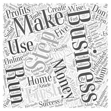 Een bedroefde Home Business Word Cloud Concept.