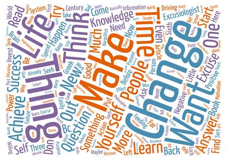 Are You an Achiever or are You an EXCUSIOLOGIST text background wordcloud concept.