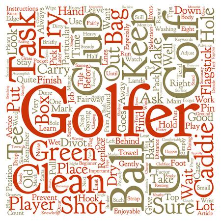 hook like: Caddie Tips For The Beginner text background wordcloud concept Illustration