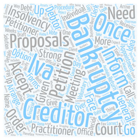 Bankruptcy or IVA The Procedure text background wordcloud concept