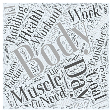 Body Building Workout Word Cloud Concept