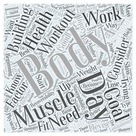 Body Building Workout Word Cloud Concept