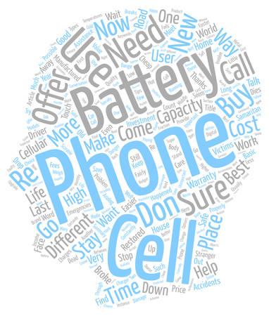 Cell Phone Batteries text background wordcloud concept