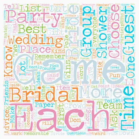 Bridal Showers wordcloud concept