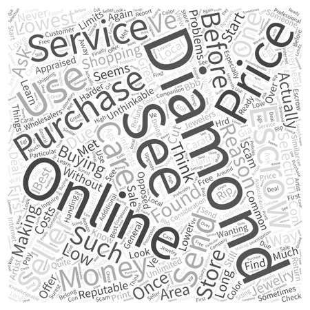 buying: Buying diamonds online Word Cloud Concept Illustration