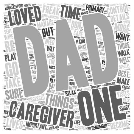 caregivers: Caregivers Don t Become Control Freaks wordcloud concept