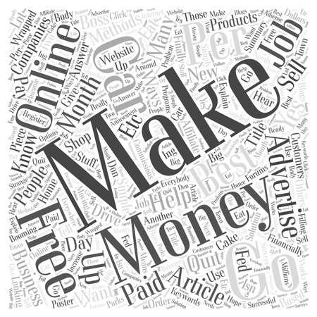 financially: Best Methods To Make Money Online Word Cloud Concept