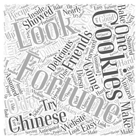 chinese fortune cookies Word Cloud Concept