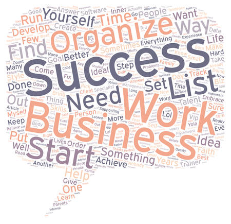 Business Aimed to Success To Do List text background wordcloud concept