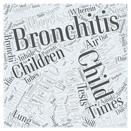 chronic bronchitis: bronchitis child Word Cloud Concept Illustration