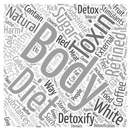 body detox diet natural Word Cloud Concept Illustration