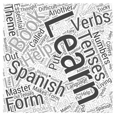 verbs: Books and Other Tools to Help You Learn Spanish Word Cloud Concept