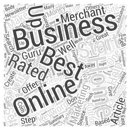 rated: Best Rated Home Business Word Cloud Concept Illustration