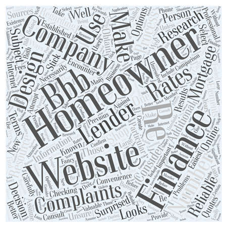 refinancing: Checking Mortgage Rates Online Word Cloud Concept Illustration