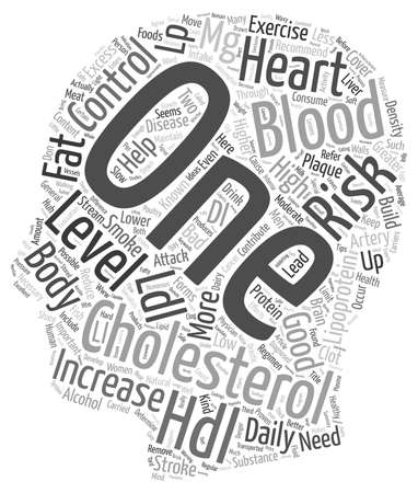 Cholesterol Good Bad Huh text background wordcloud concept Illustration