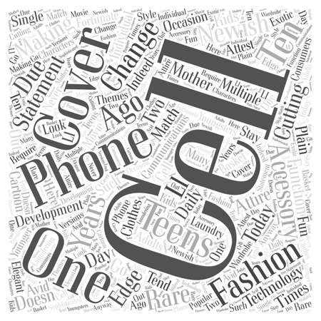 cell phone covers Word Cloud Concept