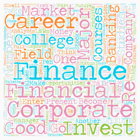 Career in numbers the finance majors text background wordcloud concept