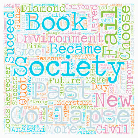 doomed: Book Review for Collapse How Societies Choose to Fail or Succeed text background wordcloud concept Illustration