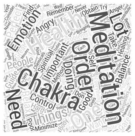according: chakra meditation Word Cloud Concept Illustration