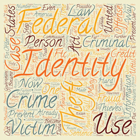 the fastest: case law identity theft text background wordcloud concept