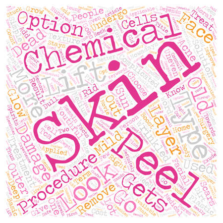 Chemical Peel Facts Is It Right For You text background wordcloud concept