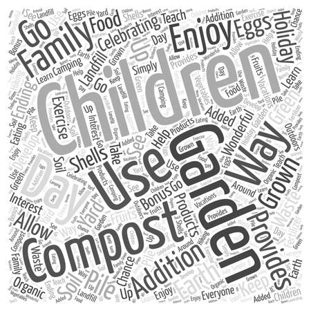 compost: Celebrating the Earth Day Holiday with Your Children Word Cloud Concept