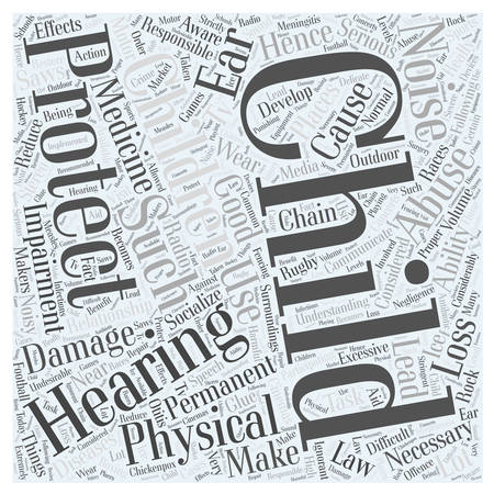 hearing protection: child hearing protection Word Cloud Concept