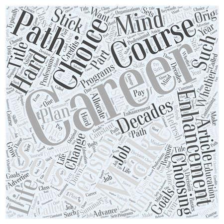 decades: Career Enhancement Basics Word Cloud Concept