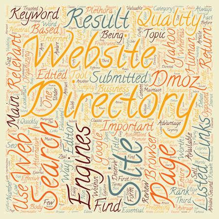 Business Web Directories text background wordcloud concept