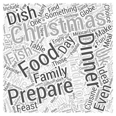 Christmas Dinner Ideas Word Cloud Concept