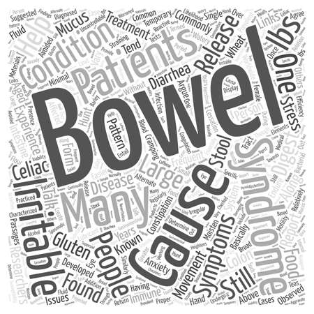 bowel: Causes of Irritable Bowel Syndrome Word Cloud Concept Illustration