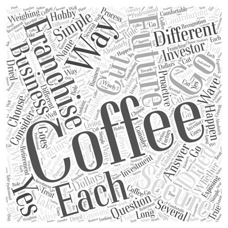 different ways: Can a Coffee Franchise Secure Your Future Word Cloud Concept